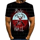 ZIXIYAWEI Homme T-Shirts Unisexe 3D Motif De Lettres De Marteau T-Shirt pour Hommes Unisexe Imprimé en 3D D'Été Décontracté À Manches Courtes T-Shirts De Fête-XL