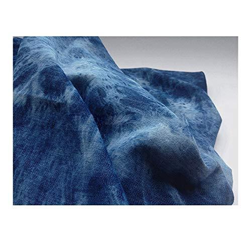 Denim stof Stretch Zacht Zomer Dun gedeelte Maak Zand release Gordijn Jurk Rugzak Broeken DIY (145cm * 100cm)