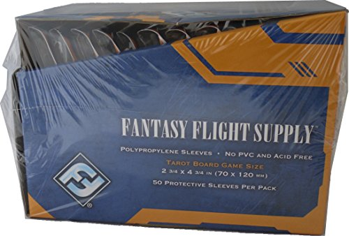 Fantasy Flight Games 500 Tarot Size Board Game Sleeves - 10 Packs + Box 70 x 120 - Brettspiel Hüllen - FFS66