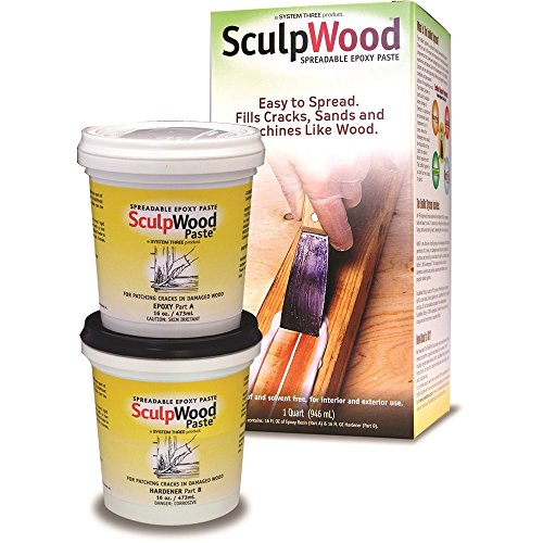 System Three Resins 1-Quart SculpWood Epoxy Paste Kit - 646697002813