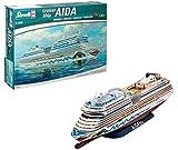 Revell Revell_05230 Modellbausatz Schiff 1:400 - Cruiser Ship AIDAblu, AIDAsol, AIDAmar, AIDAstella im Maßstab 1:400, Level 5, originalgetreue Nachbildung mit vielen Details, Kreuzfahrtschiff, 05230 -