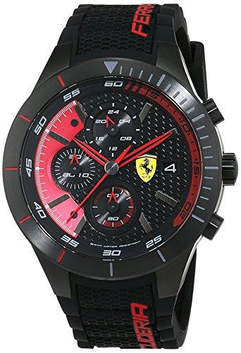 Ferrari 0830260 RedRev Evo - Reloj analógico de pulsera para hombre (cuarzo, correa de silicona)