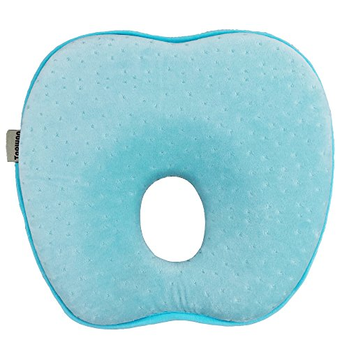 Topwon 8'' Infant Cradler Memory Foam Pillow Head-Shaping Pillow (A)