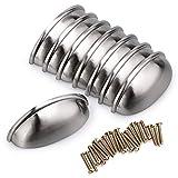 BTSKY Lot de 8poignées de tiroir, poubelle/Boutons de placard de cuisine rétro coquilles creuses demi-lunes76mm