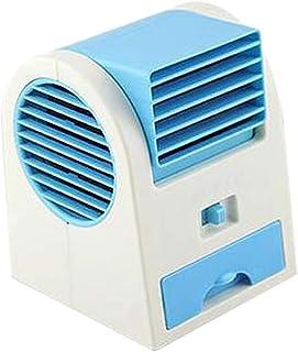 Tefamore Mini Enfriador de Aire USB Ventilador Frio Ventilador de Aire Acondicionado frío Portátil Miniatura de Coche Pequeño Aire Acondicionado Azul