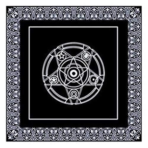 Ardentity Tarot tafelkleed, Tarot Pentacle, Velveteen, voor kaartspelletjes, textiel, gezelschapsspel (49 x 49 cm)
