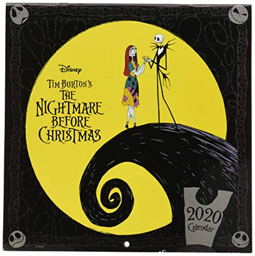 Erik Wall Calendar 2020 for Home or Office, 30 x 30 cm, Includes a Poster Gift - Nightmare Before Christmas, Disney