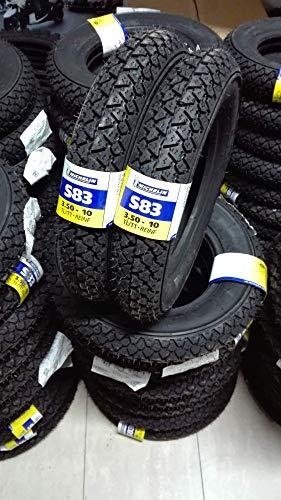 Par de neumáticos Michelin S83 3.50-10 Piaggio Vespa PX LML