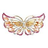 GJKK Exquisite Schmetterling Geformt Strass Haarspange Clip Glitzer Haarclips Accessoires Haarnadel...