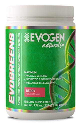 Evogen Nutrition - Evogreens Berry 30 porties - Natural series - Sportsupplement