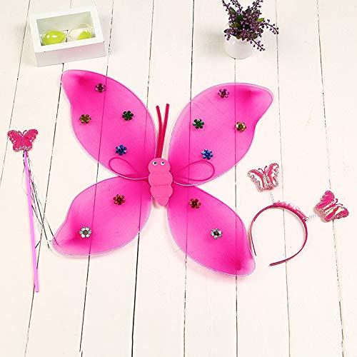XuBa vlinderfee engelenvleugels kostuums gereedschap set van 3 kinderspeelgoed