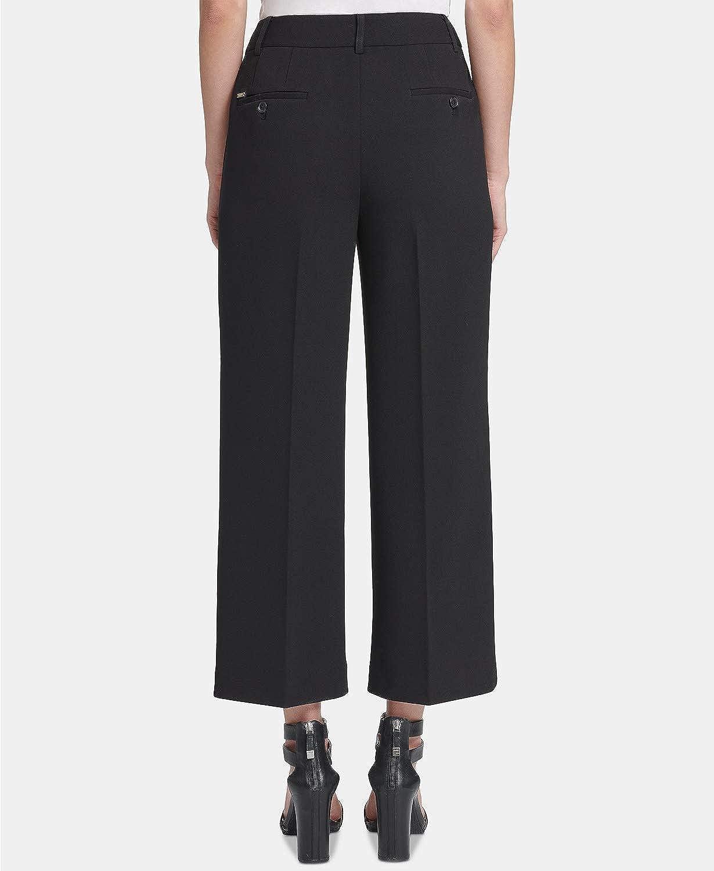 DKNY Women's Wide Leg Cropped Pants