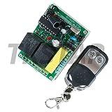TK Star Pulsador inalámbrico de 2 canales, 230 V, 433 Mhz, incluye mando a distancia, apto para...