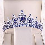 RUK Oro champán Cristal corazón Nupcial Tiara Corona Rhinestone Belleza Concurso Corona Velo Tocado Tocado Boda Accesorios para el Cabello