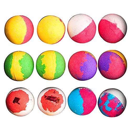 perfeclan Kit de bombas de baño, bolas de baño de burbujas coloridas, hecho a mano para baño de burbujas y spa, regalo de cumpleaños para mujeres, regalo para - 12 piezas en una caja