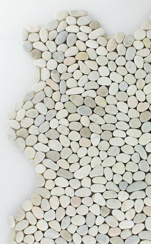 Kieselmosaik Fliesen Mini Ivory Weiss - 1 Matte