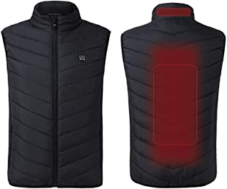 climafusion Heated Vest for Men Women Lightweight Heating Coat Electric Heated Jacket Black