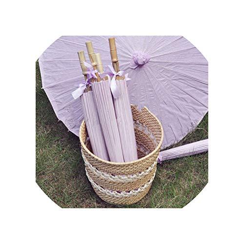 Sonnenschirm aus Papier, mit Schleife, für Erwachsene, Violett, 30 Stück Farbe Größe