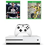 Microsoft Xbox One S Sports Game Bundle : Microsoft Xbox One S 500 GB - Robot White, Madden NFL 18 and FIFA 17