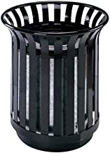 CSQ Flower Basket Trash Can, Hotel Street Park Hotel Stainless Steel Trash Can Environmentally Friendly Trash Can Indoor (Color : Black, Size : 4564CM)