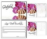150 Teile Set SPARPREIS - je 50 Bonuskarten, Terminkarten, Gutscheine Orchidee Nails Nagelstudio