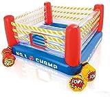Hüpfburg Kinder Boxring Aufblasbares Trampolin mit Zaun 20 Ocean Ball und Luftgebläse für...