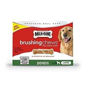Milk-Bone Brushing Chews Daily Dental Dog Treats, Large, 20 Count