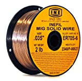 INEFIL ER70S-6 .035-Inch on 2-PoundSpool Carbon Steel Mig Solid Welding Wire