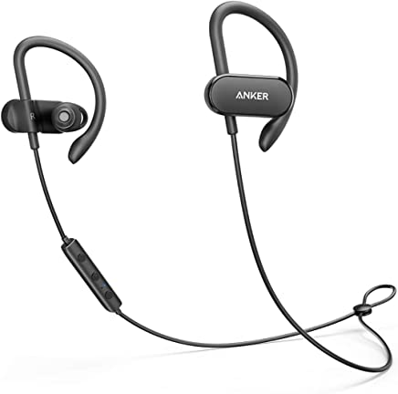 Anker SoundBuds Curve Wireless Headphones, Bluetooth Sports Earbuds with aptX Audio, Nano Coating, 14H Battery, CVC Noise Cancellation, Headsets with Built-in Mic for Running, Cycling, Workout