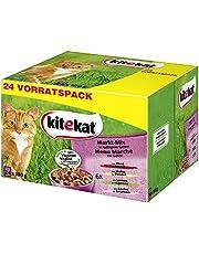 Kitekat Katzenfutter Nassfutter Markt Mix in Gelee, 48 Portionsbeutel (48 x 100g)