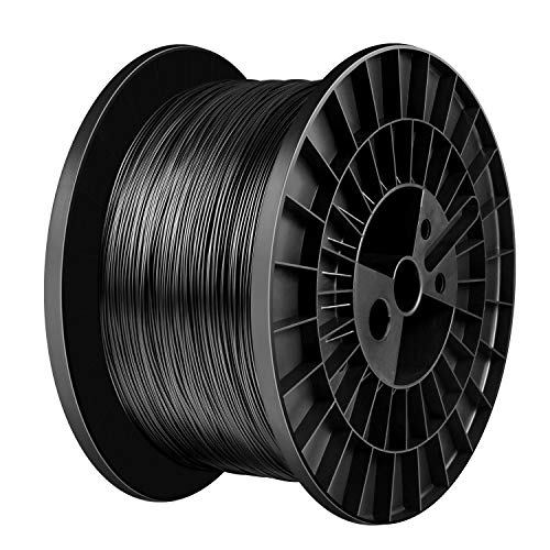 TIANSE Schwarz Filament PLA 1.75mm, PLA Filament 1.75mm, 3D Drucken Filament PLA for 3D Drucker, 5kg Spool MEHRWEG