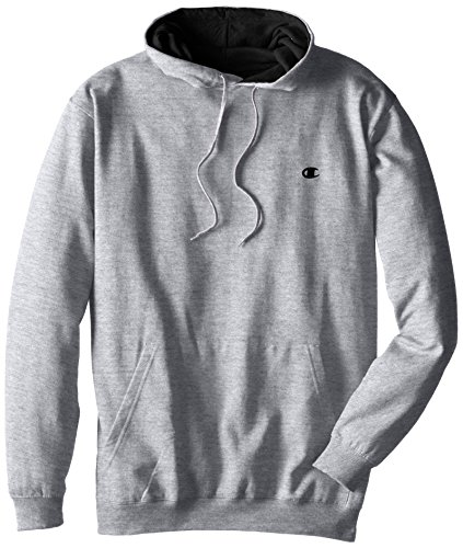 Champion Men's Big-Tall Fleece Pullover Hoodie, Grey Heather, 3X