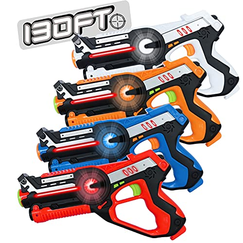 HISTOYE Laser Tag Guns Set of 4 Lazer Tag Set for...
