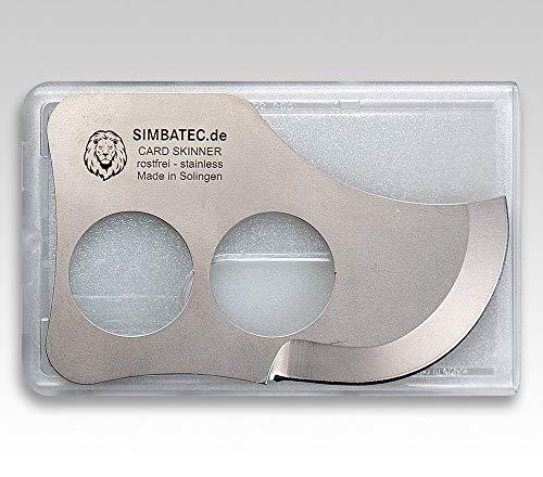 SIMBATEC Unisex– Erwachsene Card-Skinner Messer, Silber, 8,5cm