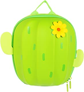 YAOHONG Backpack childrens bag shoulders go to the front of the children's backpack creative children's cactus backpack (C...