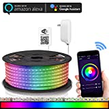 Maxonar LED Strip Lights Works with Alexa WiFi LED Light Strip,RGB Multicolor Waterproof...