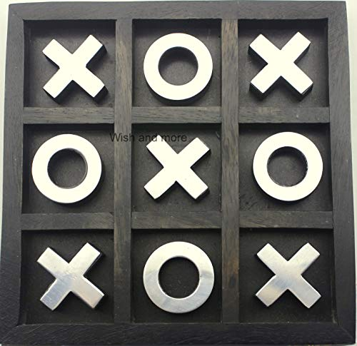 Wish and More Tic Tac Toe Board Game for Adults/Children, Indoor/Outdoor Games, Classic Coffee Table...