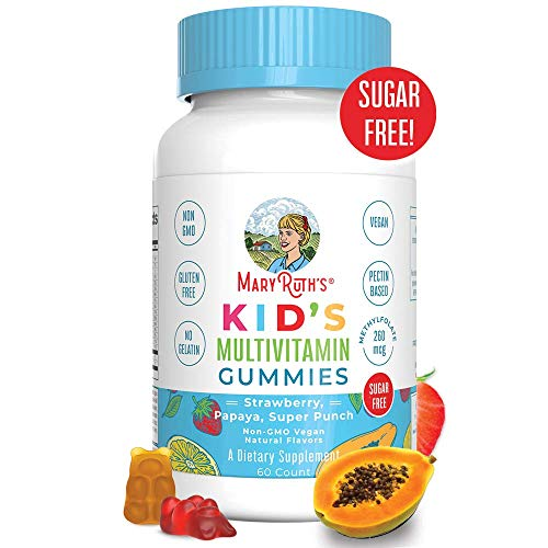 Vegan Kids Multivitamin Gummies by MaryRuth's - Organic Ingredients - Immune Boost - Methylfolate - Sugar Free - Non-GMO Vitamin Chewables 60ct