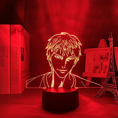 Lámpara de noche 3D de anime, ilusión, anime, Kuroko, sin Basuke, Daiki, Aomine, figura LED de luz nocturna para decoración de habitaciones, regalo, manga Kuroko, baloncesto, lámpara 3D ZMSY