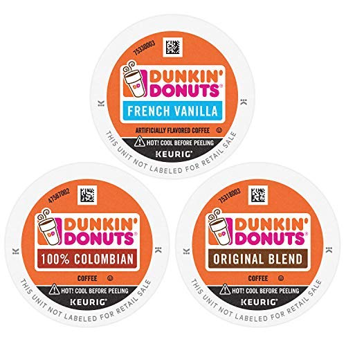 Dunkin' Donuts Best Sellers Coffee Variety Pack, 60 K Cups for Keurig Coffee Makers (Packaging May Vary)-SET OF 3