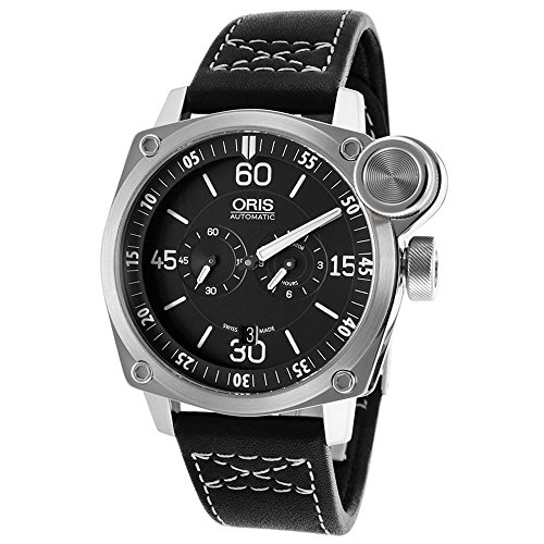 Oris BC4 Der Meisterflieger Automatic Steel Mens Luxury Strap Watch Calendar 749-7632-4194-LS
