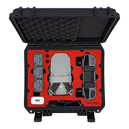 MC-CASES® Kompakt Koffer für DJI Mini 2 und Zubehör – Für Flymore Kombo ohne Propellerschützer – Wasserdicht - Sehr robust – In Deutschland hergestellt (DJI Mini 2)