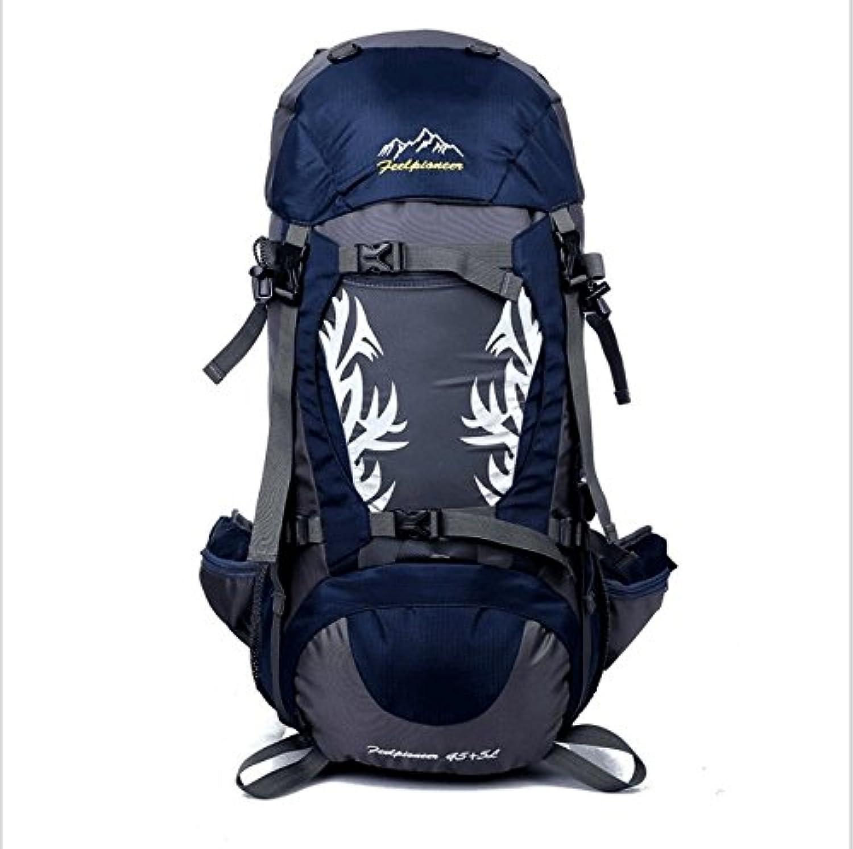 Olprkgdg Reise Daypack Wandern Rucksack wasserdicht mit Regenschutz Regenschutz Regenschutz für Camping Klettern Bergsteigen (Farbe   Dark Blau) B07MV3B84V  Elegant a3a46f