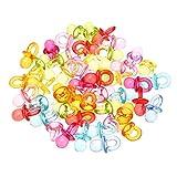 Tvvudwxx 50 Stück Acryl Perlen Schnullerform Beißspielzeug für DIY Vogel Papageien Spielzeug Kauspielzeug