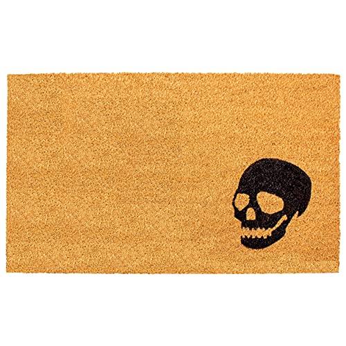 Calloway Mills 153591729 Black Skull Doormat 17' x 29'