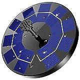 AISITIN Solar Springbrunnen mit 3.0W Solar Panel, Solar Teichpumpe Eingebaute 1200 mAh Batterie Wasserpumpe Solar Schwimmender Fontäne Pumpe mit 6 Fontänenstile für Garten, Vogel-Bad, Fisch-Behälter