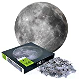 500 Piece Puzzle - Full Moon Round Puzzle 500 Pieces - Difficult and Challenge Jigsaw Puzzle for Adults Kids Decompression Intellectual Home Decoration Puzzle Toys