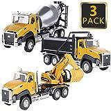 Latocos Camion Juguete Coches de Juguetes Tractor Garaje Coches Excavadora Carro Transporte Juguete Carro de 3,4,5,6 Años Juguete Educativo