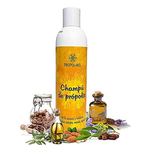 Shampoo pH neutro con Propoli - 250 ml. Shampoo naturale certificazione BIO, senza solfati. Rigenera, idrata, ammorbidisce e dona brillantezza e volume ai capelli; protegge il cuoio capelluto.