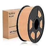 Filamento de impresora SUNLU 3D PLA Plus 1,75 mm 1 kg carrete, PLA + piel de filamento 1,75 +/- 0,02 mm para impresión 3D
